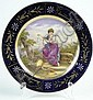 Early 20th Century Royal Vienna Style German Porcelain Portrait Plate