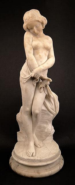 R. Gremigni, Italian (19/20th Century) Carved Marble Sculpture