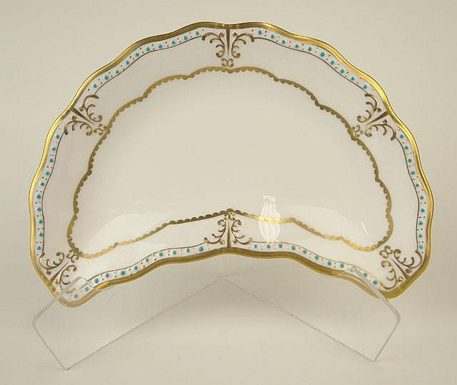 Four (4) Royal Crown Derby Crescent Salad Plates in the