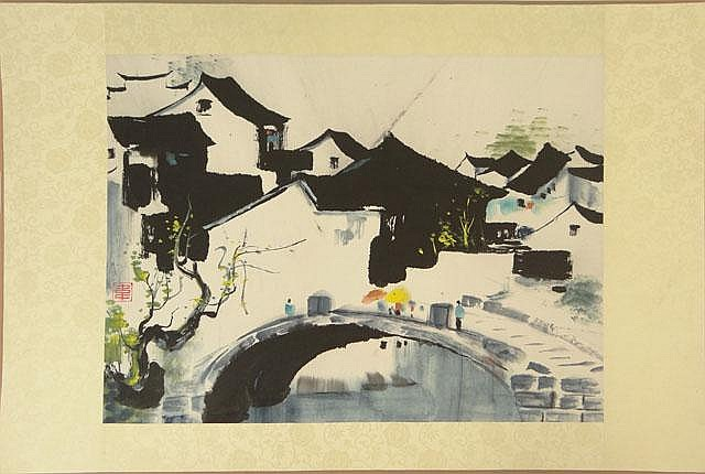 Wei Pingao Chinese (born1944- ) Ink and Color on Paper