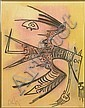 Wifredo Lam Cuban (1902-1982) Color Lithograph from a Series of Ten (10) Lithograph Suite