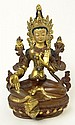 20th Century Sino-Tibetan Bronze Figure of Tara. Mark to Base. Possible Repaired Crack to Torso Otherwise Good Condition or Better. Measures 5-5/8 Inches Tall and 3-7/8 Inches Wide. Shipping $36.00