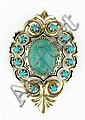 Ladies Vintage 14 Karat Yellow Gold and Turquoise