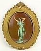 Circa 1901 Continental Painted Porcelain Plaque