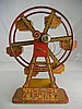 Antique J. Chein Tin Litho Key Wind Hercules Ferris Wheel 16-1/2