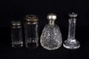 Four Art Nouveau Sterling Top Dresser Jars