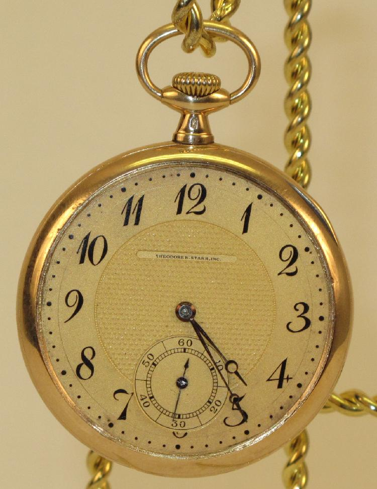 Longines 14K Gold Mens Pocket Watch T. Starr