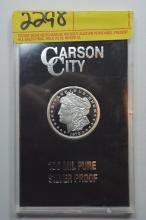 1879 Carson City Silver Proof 100 Mil Proof