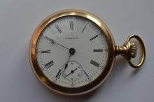 Antique Men's Waltham Open Face Pocket Watch