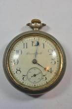 Antique Hampton Silveroid Open Face Pocket Watch
