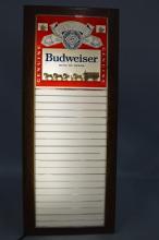 Vintage Budweiser Clydesdales Backlit Store Hours Information Sign