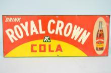 1936 Royal Crown Cola Metal Advertising Sign