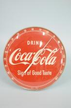 Vintage Coca-Cola Sign Of Good Taste Thermometer