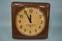 Vintage Self Winding Clock Company Western Union Naval Observatory Time Wall Clock