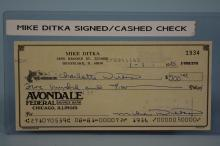 Authentic Mike Ditka Signed & Cashed Cancelled Check