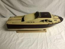 Vintage Gas Powered Wood Boat
