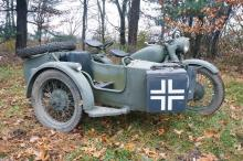 1939 BMW 750 German Military Motorcycle with Sidecar