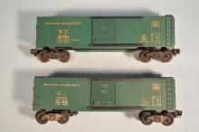 Lot Of Two Postwar Lionel Boxcars #6464-75 Rock Island 1953 & #6464-75 Rock Island 1969