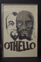 1967 Othello Play Poster by David Stone Martin Signed