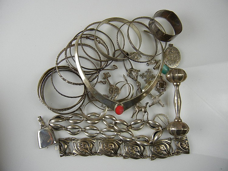 Sterling Silver Jewelry Lot, 13.7oz