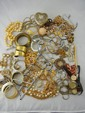 Large Lot of Costume Jewelry w/ Heart Box