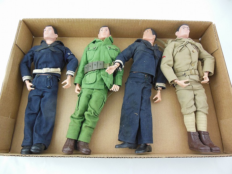 4- Assorted 1960's GI Joe's