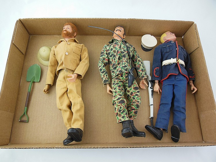 3- Assorted 1960's GI Joe's