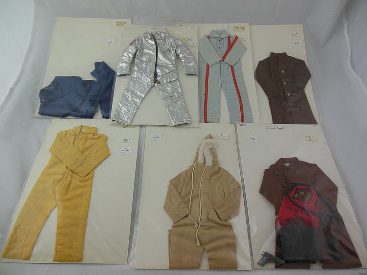 7- Various 1960's GI Joe Uniforms