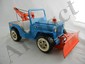 Tonka Blue Jeep Tow Truck