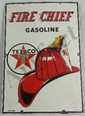 Texaco Fire Chief Porcelain Sign