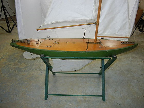 Antique Detroit News Wooden Sailboat