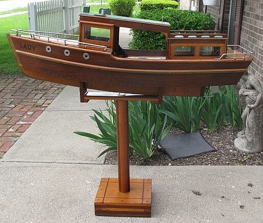 Lady of Chicago Custom Made Ship on Matching Stand