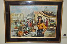 Rispoli-20th Century Neapolitan School Oil Painting