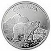 Canadian Silver 1 oz Grizzly Bear (DATE OF OUR CHOICE)