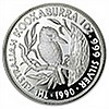 1990 1 oz Proof Silver Australian Kookaburra
