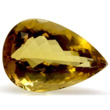 Natural Citrine Pear Cut 20x33mm 1 pc/lot 38.75 ctw