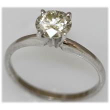 1.10 CTW 14K GOLD DIAMOND RING ROUND C2//I1