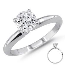 GIA CERTIFIED ROUND DIAMOND 0.42 CTW IN SOLITAIRE RING D/SI1