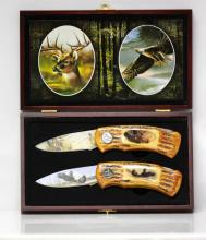 COLLECTIBLE WILD OUTDOORS EAGLE AND DEER KNIVES