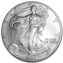 2000 1 oz Silver American Eagle (Brilliant Uncirculated)