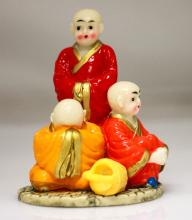 CHINESE MONKS HANDMADE FROM PORCELAIN