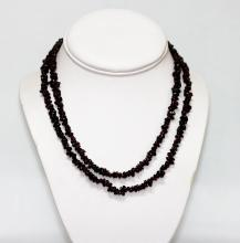 270.01 CTW Natural Un-cut Beaded Garnet Necklace