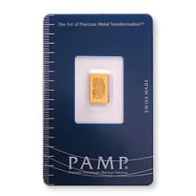 Gold Bars: Pamp Suisse One Gram Gold Bar