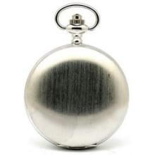 Collectors Edition Silver Toned Brushed Pocket Watch