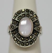 36.35 CTW ANTIQUE STYLE RING .925 STERLING SILVER