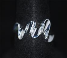 WAVE FASHION .925 STERLING SILVER RING