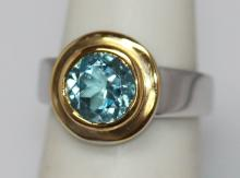 1.75 CTW BLUE TOPAZ Ring .925 Sterling Silver