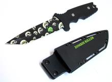 COLLECTORS EDITION ZOMBIE DESIGN HUNTING KNIFE W/SHEATH