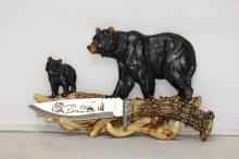 COLLECTIBLE BLACK BEAR KNIFE W/ DISPLAY SET