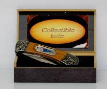 COLLECTIBLE BILLY THE KID FOLDING KNIFE W/ PICTURE